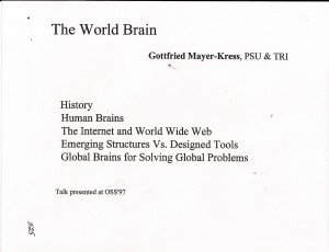 1997 Mayer-Kress World Brain