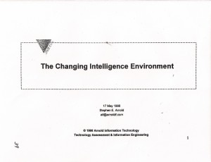 Changing Intelligence Environment