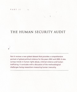 The Human Security Audit Part II