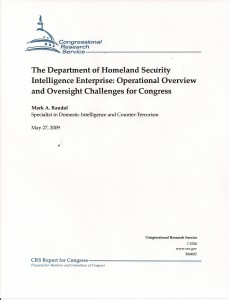 CRS on DHS Intel