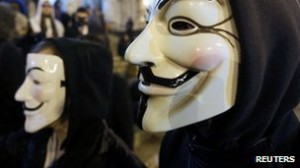 The loose collective Anonymous have targeted a number of big institutions in recent years