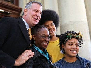 Bill de Blasio Family (2013)