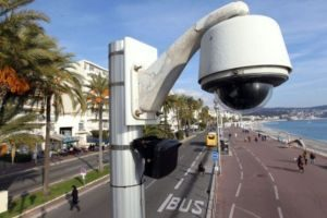 "Nice surveillance. Photo by Valery Hache. AFP -- French ""anti"" terrorist branch (SDAT) orders destruction of all videos..."