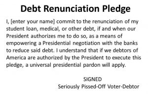 Debt Renunciation Pledge